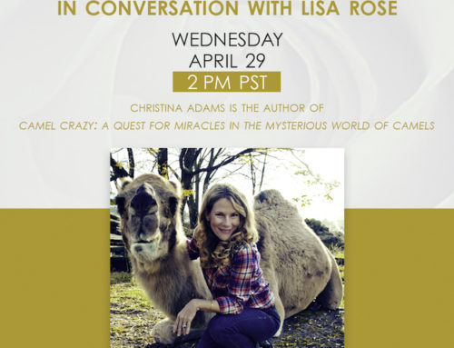 Christina Adams In Conversation with Lisa Rose, April 29, 2pm PST